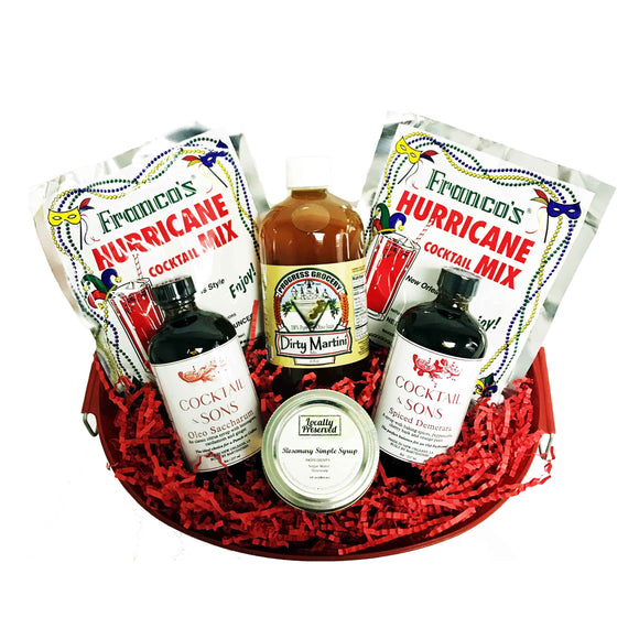 NolaCajun Small Cocktail Gift Basket