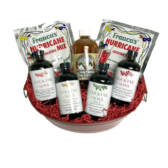NolaCajun Large Cocktail Gift Basket
