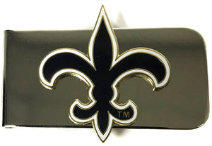 New Orleans Saints Silver Money Clip