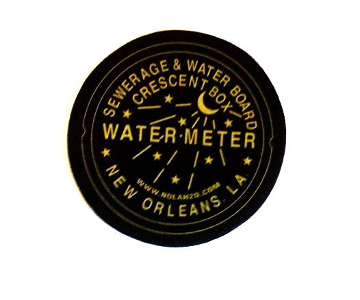 Watermeter Coasters - Black