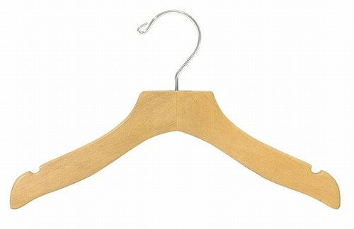 "12"" Children's Wooden Wavy Top Hanger"