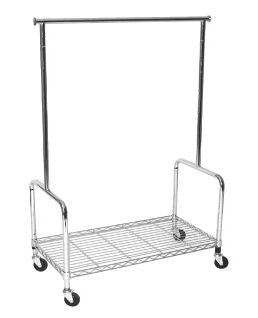 "36"" Rolling Rack w/ Base Shelf"