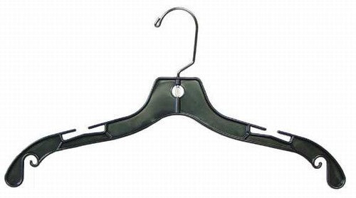 Black Plastic Shirt-Dress Hangers