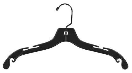 Black Plastic Top Hanger