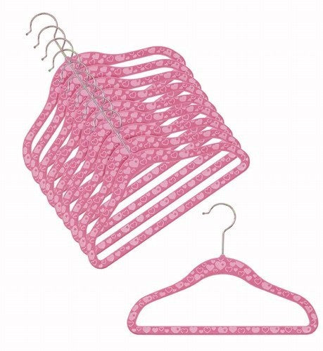 Children's Slim-Line Printed Hearts Hanger