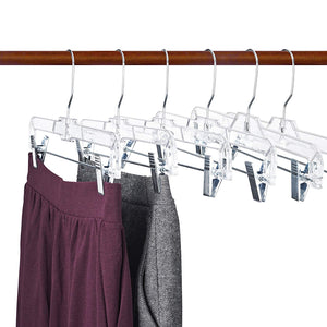Only Hangers Only Childrens Clear Plastic Pant//Skirt Hanger-10 50