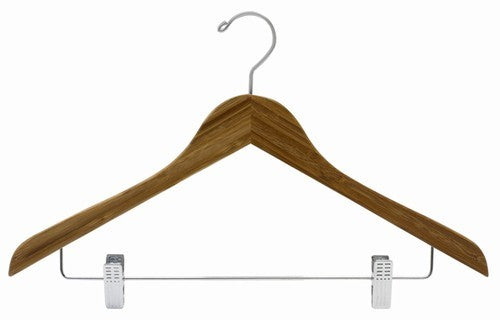 Dark Bamboo Flat Combination Hanger