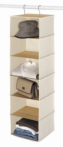 Hanging Canvas & Bamboo Accessory Storage
