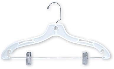 Heavyweight White Plastic Suit Hanger