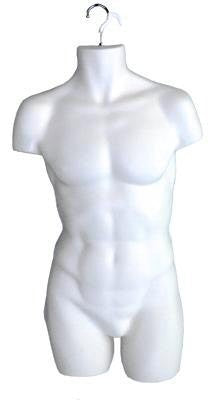 Male Hanging Torso Form (White);Male Hanging Torso Form (White);Male Hanging Torso Form (White)