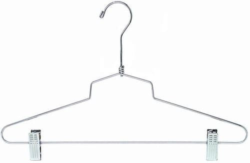 "Metal Combination Hanger w/Clips - 16"" (No Loop)"