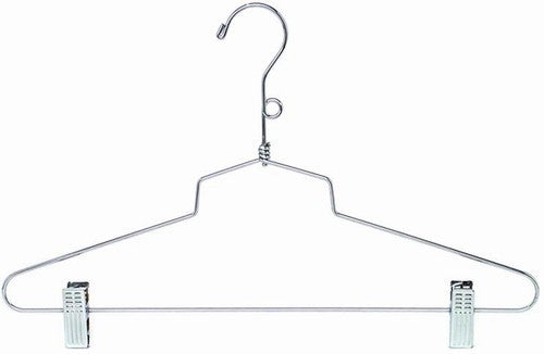 Metal Combination Hanger w/Clips - 16""