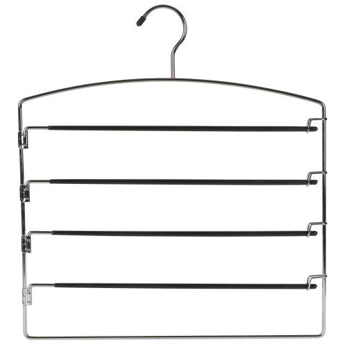 Metal Multi Pant Hanger w/Swing Arms (Black)
