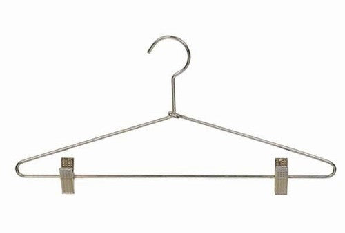 Metal Suit Hanger w/Clips