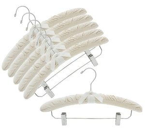 Natural Canvas Padded Hangers w/Clips