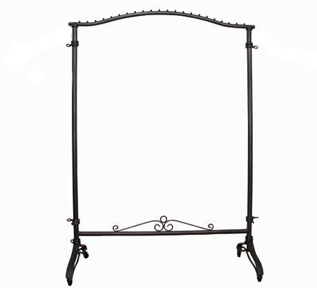Raw Steel Decorative Rolling Rack