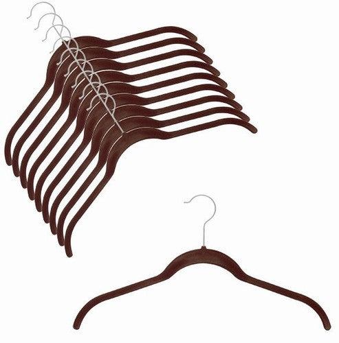 Slim-Line Chocolate Brown Shirt Hanger