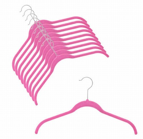 Slim-Line Hot Pink Shirt Hanger