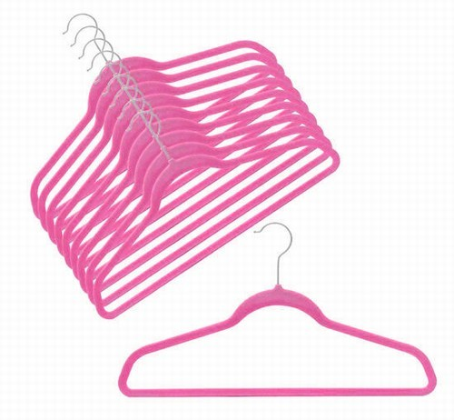Slim-Line Hot Pink Shirt/Pant Hanger