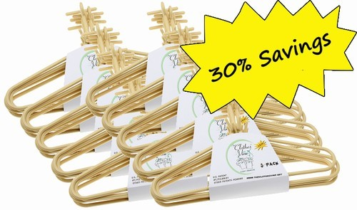 "Tan Plastic ""Clothes Vine"" Hangers (50) Pack"