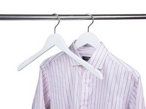 White Wooden Dress-Shirt Hanger