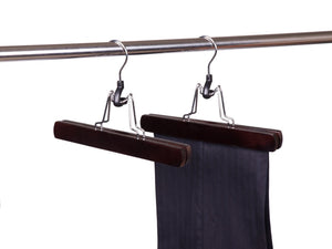 Wooden Clamp Style Pant/Skirt Hanger (Walnut & Chrome)