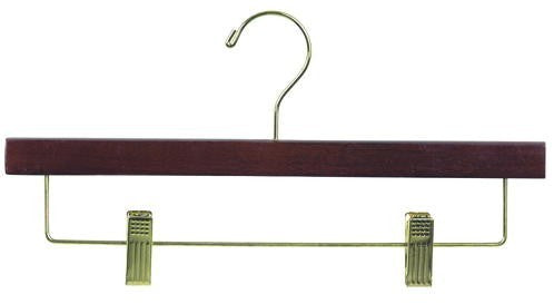 Wooden Pant/Skirt Hanger (Walnut & Brass)