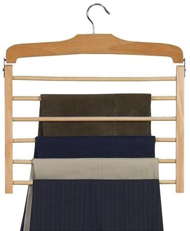 Wooden Specialty Multi-Pant Hanger - Natural