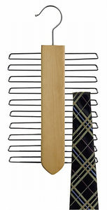 Wooden Tie Hanger (Vertical Style) - Natural