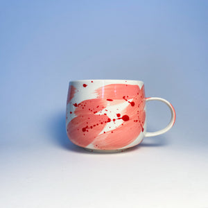 Valentimes Pink Brushy Mug 2