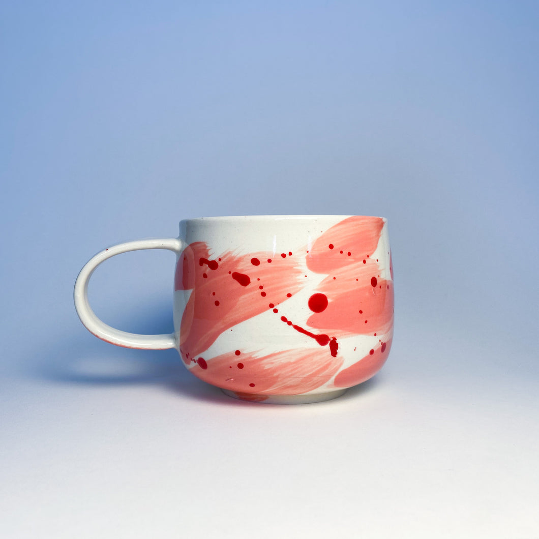 Valentimes Pink Brushy Mug 7