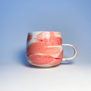 Valentimes Pink Brushy Mug 8