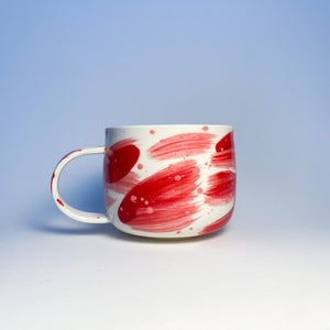 Valentimes Red Brushy Mug 1