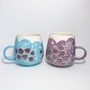 Blue Blackberry Mug