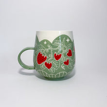 Load image into Gallery viewer, Green Strawberry Mug