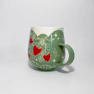 Green Strawberry Mug