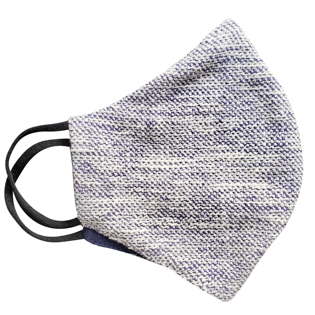blue tweed face mask