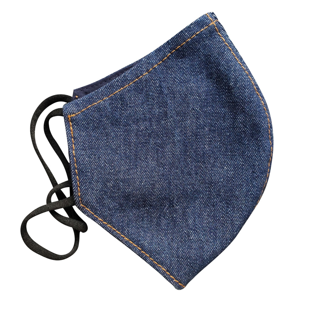 indigo denim face mask
