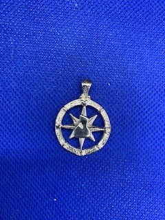Compass pendant with Block Island in Center