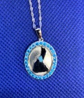 Block Island Necklace with Blue Topaz