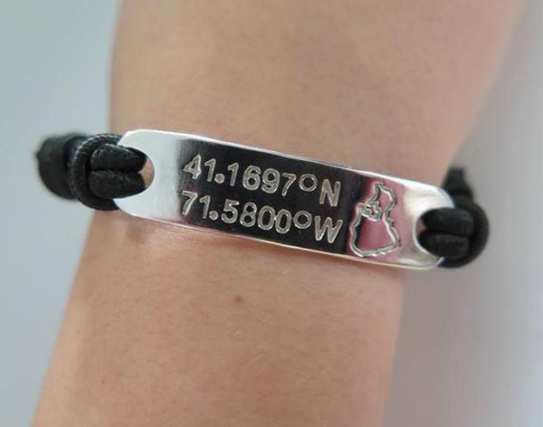 NEW Latitude/Longitude Bracelet
