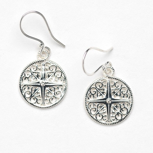 Southern Gates Compass Earrings