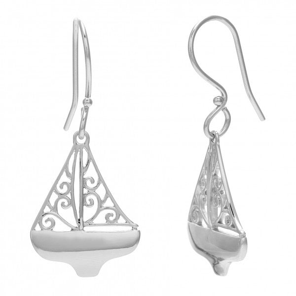 Southern Gates Filigree Sailboat Earrings