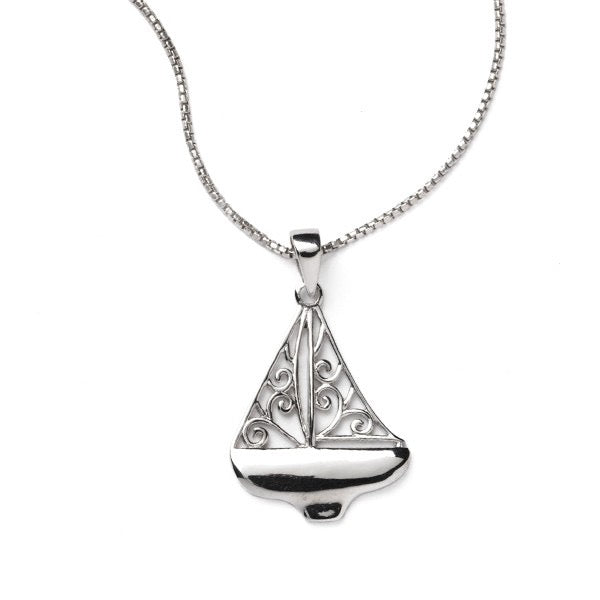 Southern Gates Filigree Sailboat Necklace