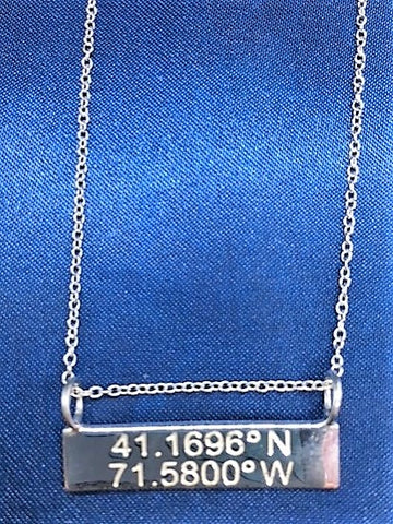 Latitude/Longitude Reversible Horizontal Pendant NEW 2018