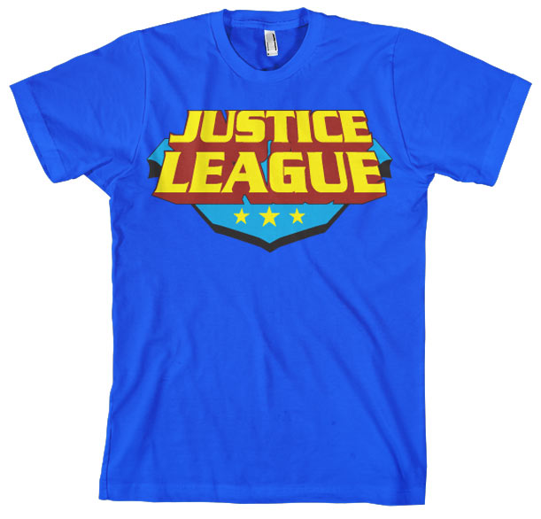Justice League Classic Logo T-Shirt Blue - Amhero