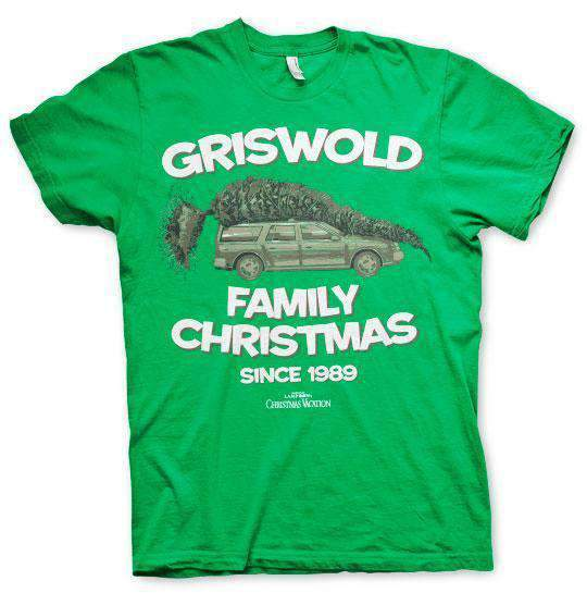 National Lampoon's Christmas Griswold Family Christmas T-Shirt Green - Amhero