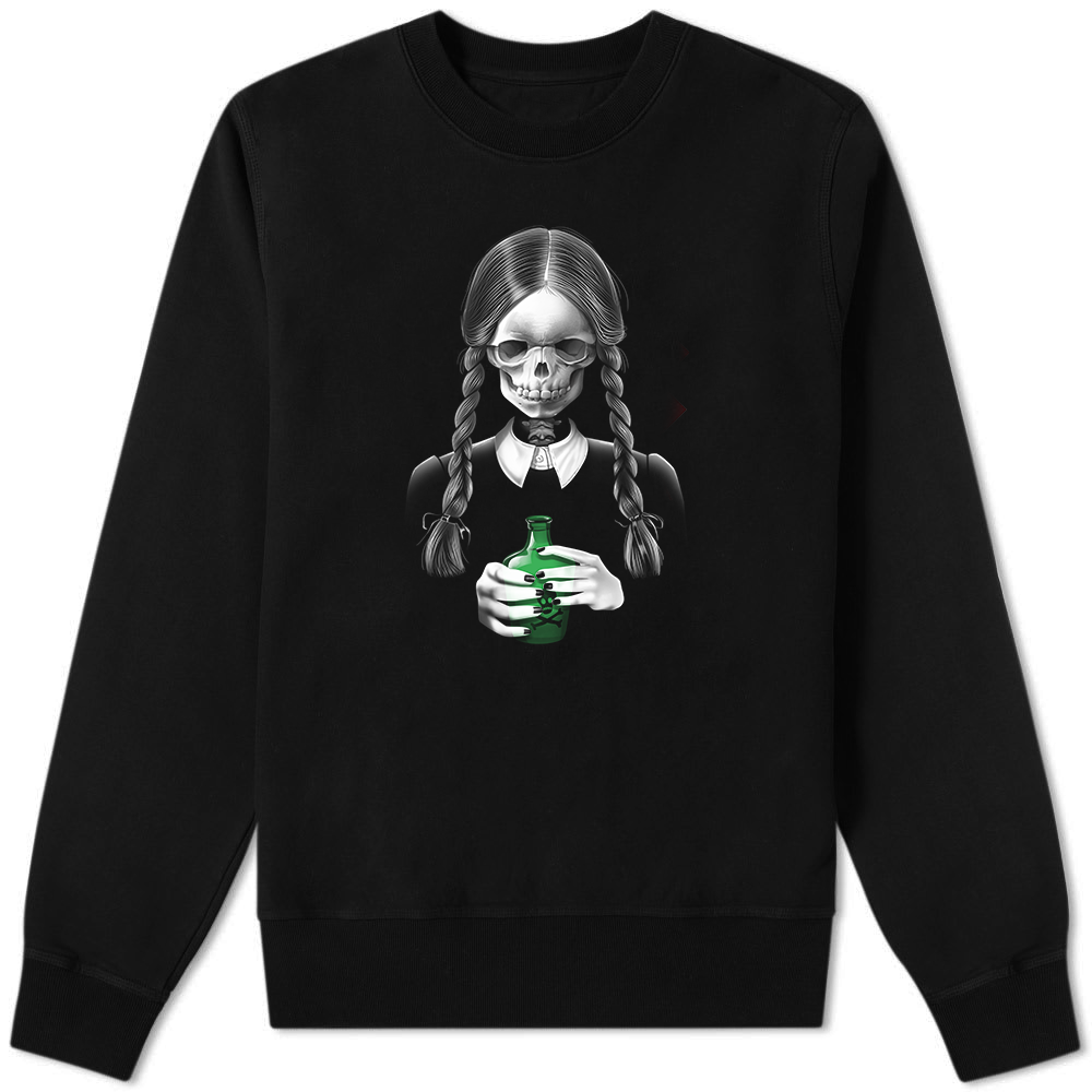 Death Bores Me Sweater Black