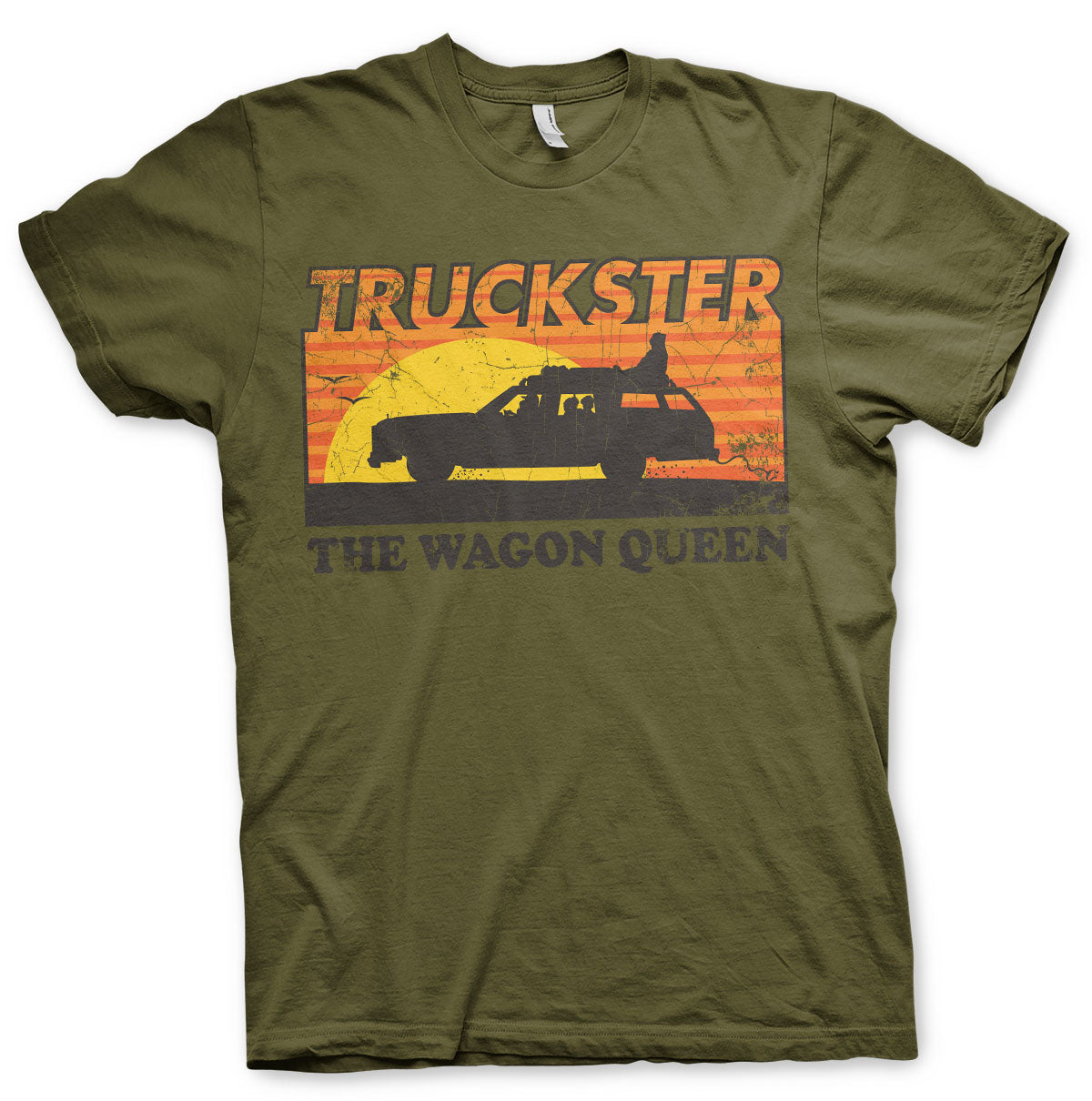 National Lampoon's Truckster The Wagon Queen T-Shirt Khaki - Amhero