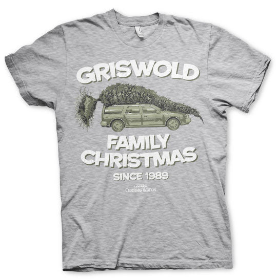 National Lampoon's Christmas Griswold Family Christmas T-Shirt Grey - Amhero